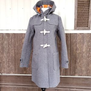 Superdry wool fleece trench coat toggle size S